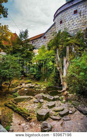 Pond Near Castle In Cesky Krumlov