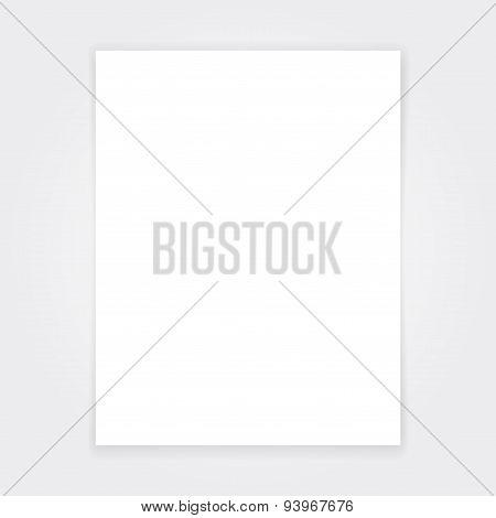 Blank paper flyer mock up