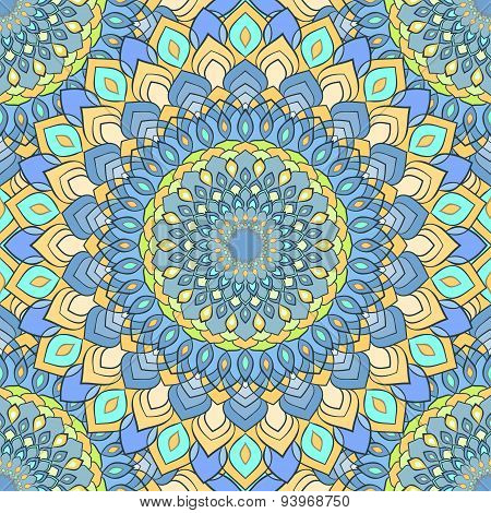 Hand-drawing Ornamental Abstract Seamless Pattern Background