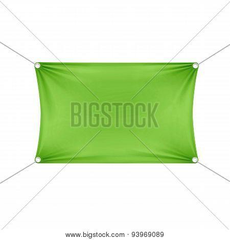 Green Blank Empty Horizontal Rectangular Banner