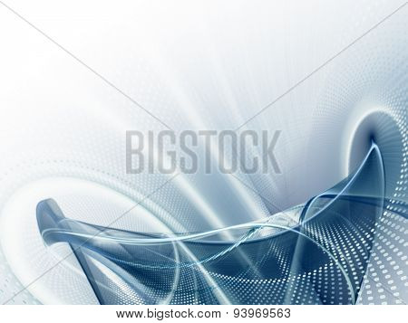 Computer graphics abstract blue background