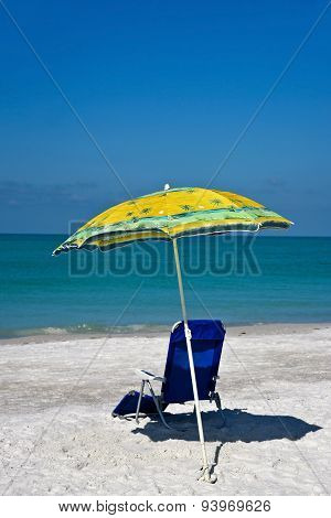 Beach Umbrella And Chair