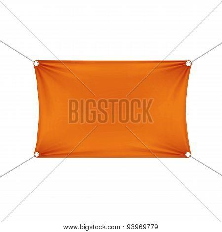 Orange Blank Empty Horizontal Rectangular Banner