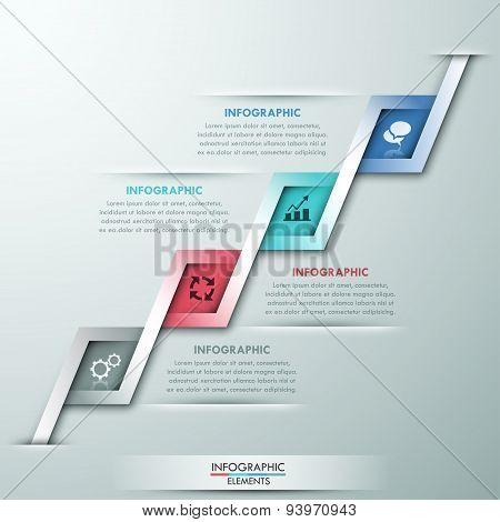 Modern infographic option banner