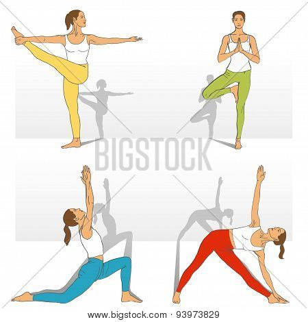 Yoga Studio. Yoga class.