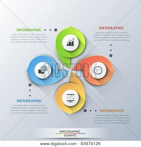 Modern infographics options banner.