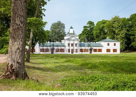 Belorussian tourist attraction -  Oginski Palace in Grodno region.