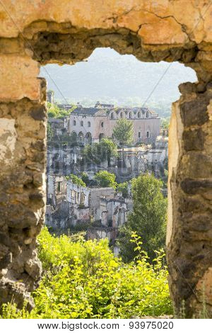 Empty Houses And Orthodox Church Ruins In Kayakoy Village At South Of Fethiye