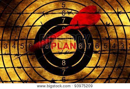 Plan Target Against Barbwire