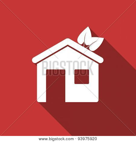 house flat design modern icon with long shadow for web and mobile app