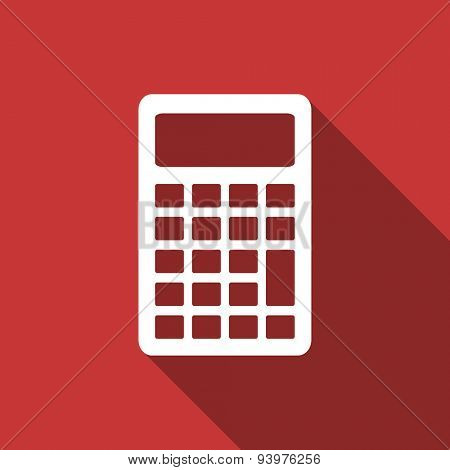 calculator flat design modern icon with long shadow for web and mobile app
