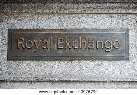 Royal Exchange In London