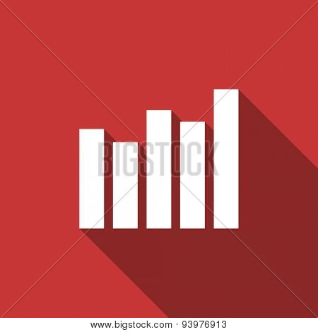 graph flat design modern icon with long shadow for web and mobile app