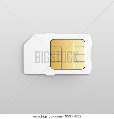 Vector Mobile Cellular Phone Sim Card Chip