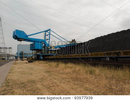 Stacker With A Heap Of Coal