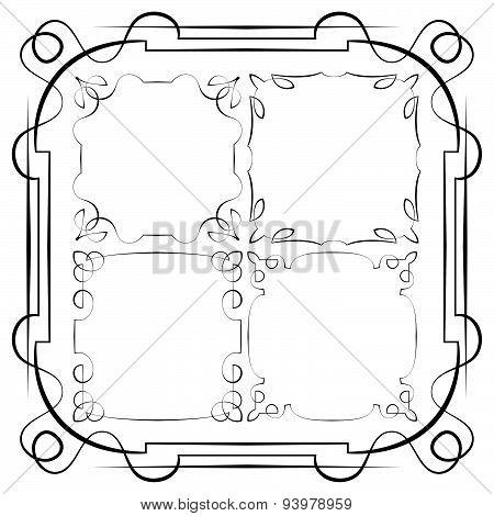 Vector Delicate Frames. Set