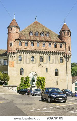 Lausanne Saint-maire Castle (chateau Saint-maire) In Summer
