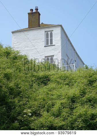 House Located Upon Cliff Edge