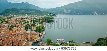 Lake Garda, Riva Del Garda, Hd Panorama Collage
