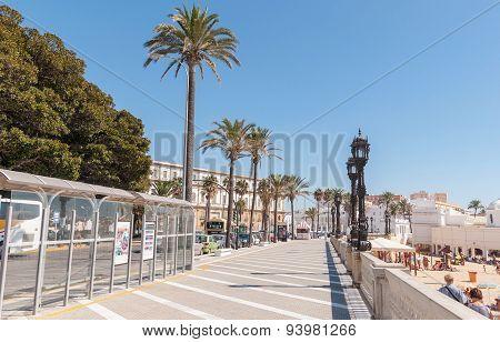Promenade In Cadiz, Andalusia, Spain