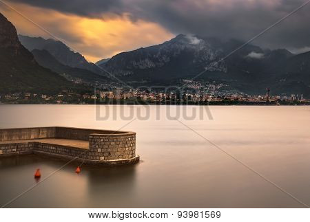 Lecco Town, Como Lake District Landscape. Italy, Europe.