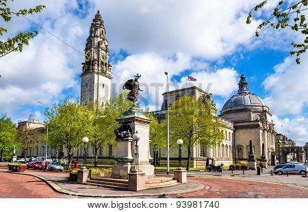 View Of City Hall Of Cardiff - Wales, Great Britain