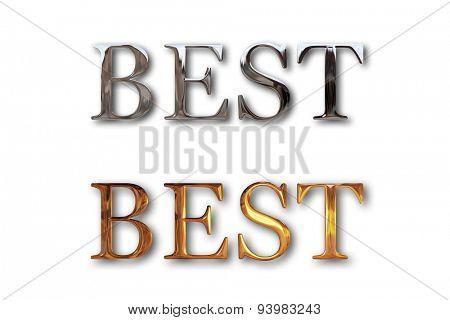 Best text silver gold design