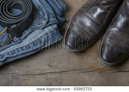 Vintage Jeans And Boots