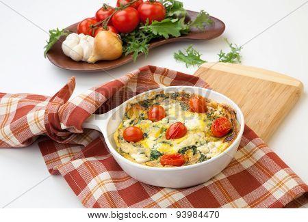 Kale Tomato Frittata