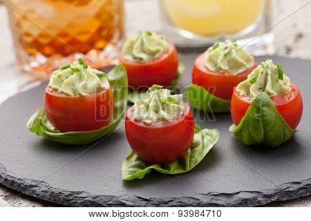 Avocado Cheese Stuffed Tomatoes.