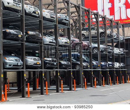 Typical Car Park In New York City