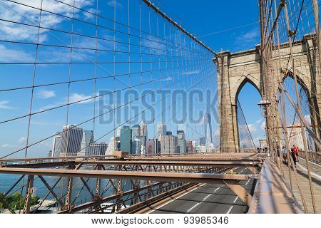 New York City Skyline From Brooklyn Bridge