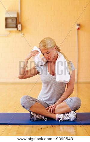 Woman Sweating In Gym