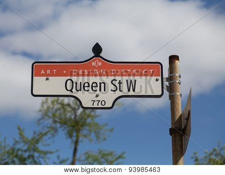 Queen Street West In Toronto