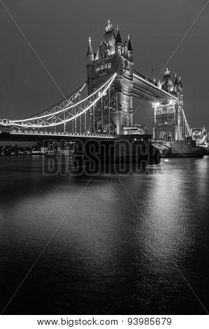 Tower Bridge Black And White