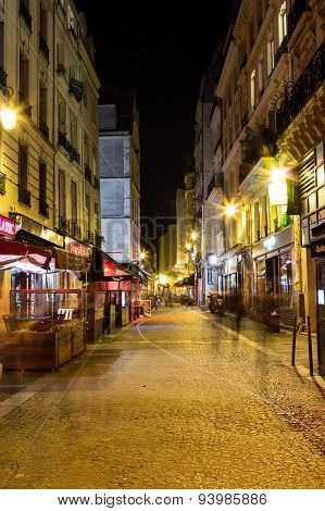 Streets Of Paris At Night