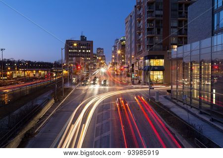 Davisville And Yonge Street At Night
