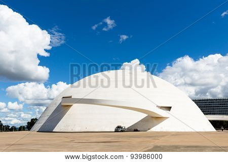 BRASILIA, BRAZIL - CIRCA MARCH 2015: National Museum in Brasilia city, Brazil