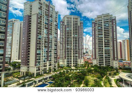 SAO PAULO, BRAZIL - CIRCA JAN 2015: Condominiums in Sao Paulo, Brazil.