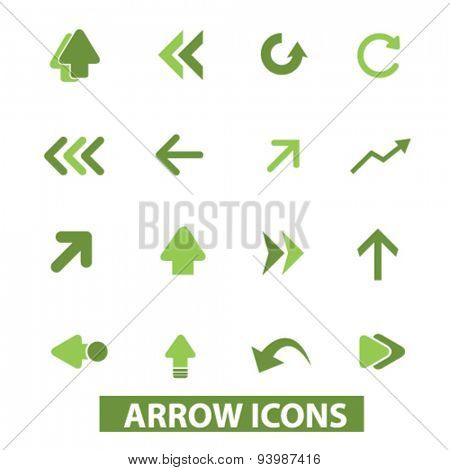 arrow, direction isolated icons, illustrations, vector