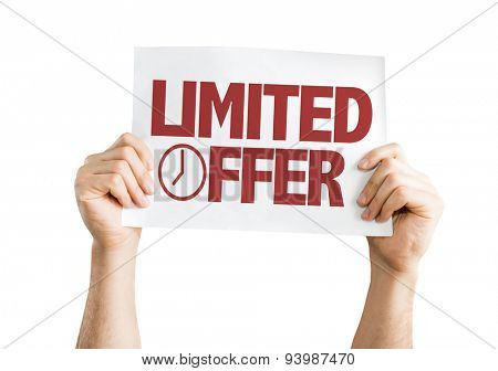 Limited Offer card isolated on white