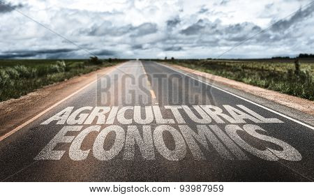 Agricultural Economics written on rural road