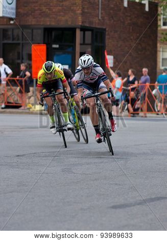 Cyclists On Course At Uptown Criterium