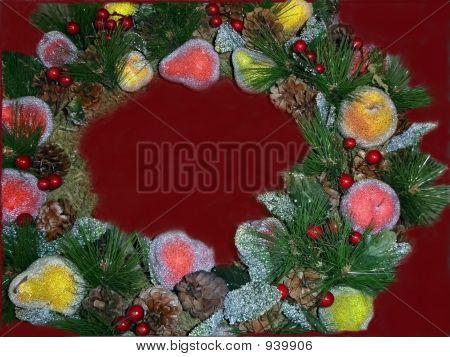 Sparkly Fruit Wreath