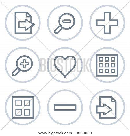 Image Viewer Web Icons Set 1, White Circle Series
