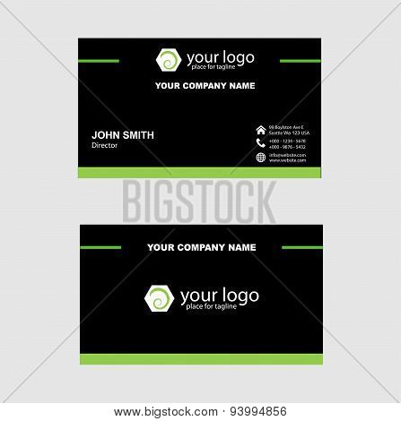 Business Card, Business Card Vector design template