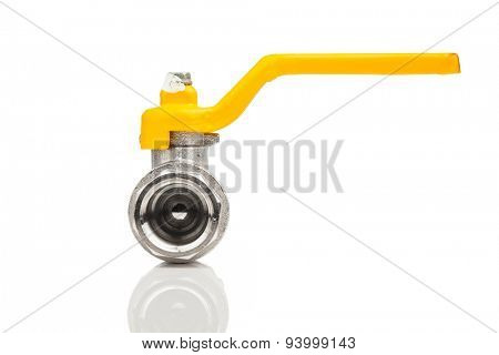 natural gas tap, isolated on white