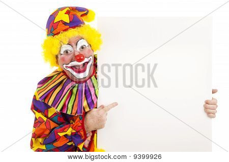 Clown With White Space