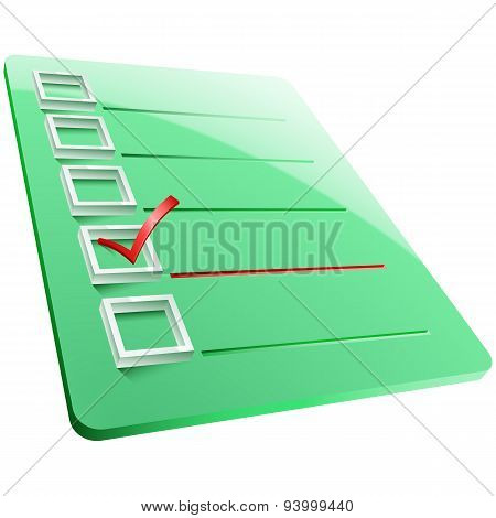 Checkmark Board Answer Yes One