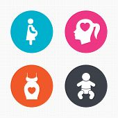 foto of maternity  - Circle buttons - JPG